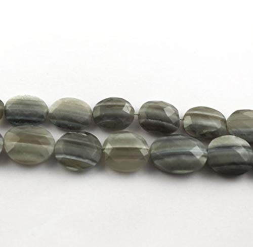 2 Strand Natural Bio Blue Opal Faceted Briolettes -Oval Shape Beads. 14mm-19mm 8.5 inches by ()