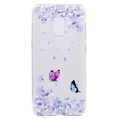 Casos hermosos, cubiertas, Estuche para Samsung Galaxy A8 Plus 2018 A8 2018 Transparente Patrón Contraportada Mariposa TPU suave para A3 (2017) A5 (2017) A7 (2017) Galaxy A8 ( Modelos Compatibles : Ga Galaxy A5(2017)