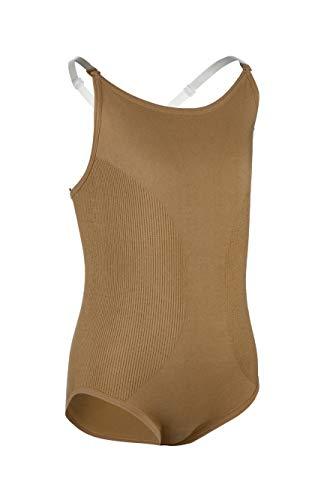 Child Seamless Camisole Undergarment Leotard ,N234CNUDM,Nude,Medium