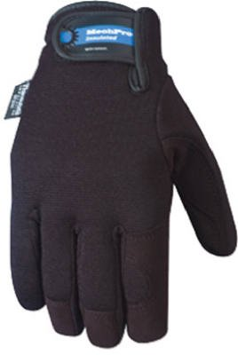 Wells Lamont 7750 Men's Mechanic's Gloves with Black Synthetic Leather with G80 Thinsulate, Comfort Closure