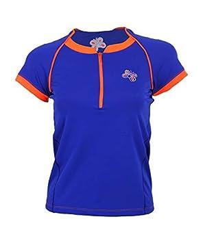 OCHO PADEL Camiseta Manga Corta Azul Naranja: Amazon.es ...