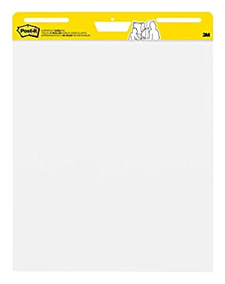 Post-it Super Sticky Easel Pad, 25 x 30 Inches, 30 Sheets/Pad, 6 Pads (559VAD6PK), Large White Premium Self Stick Flip Chart Paper, Super Sticking Power (Renewed)