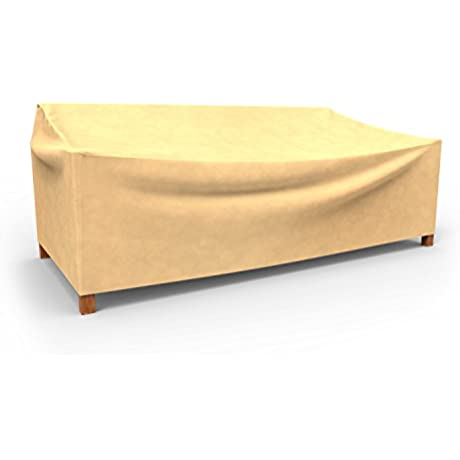 Budge All Seasons Outdoor Patio Loveseat Cover Extra Large Tan