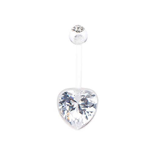 plastic belly button rings - 4