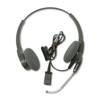 (PLNH101 - Encore Binaural Over-the-Head Telephone Headset w/Clear Voice Tube )