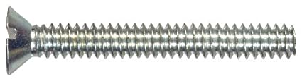 The Hillman Group 2101 Flat Head Slotted Machine Screw 10-24 x 1-Inch 39-Pack Zinc