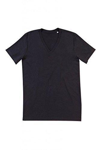 """Stedman Herren Herren V-Neck T-Shirt """"James"""" ST9210 Black Opal XL"""