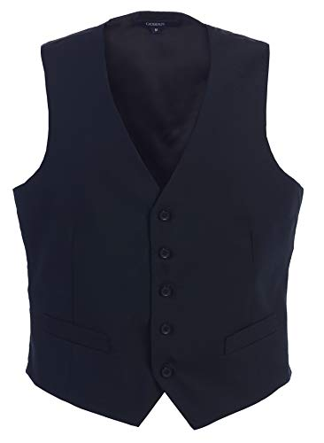 Gioberti Mens 5 Button Formal Suit Vest, Navy, 2X-Large ()