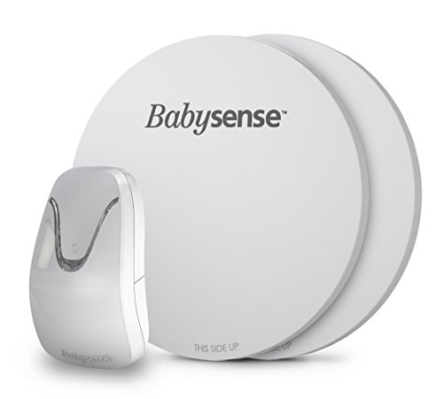 New Babysense 7 - Under-The-Mattress Baby Movement Monitor - The Original Non-Contact Infant Monitor - Full Bed Coverage with 2 Sensor Pads - Now with Enhanced Sensitivity (Under Mattress Sensor)