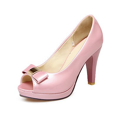 LvYuan Mujer-Tacón Stiletto-Otro-Sandalias-Vestido-Semicuero-Rosa Blanco Beige Pink
