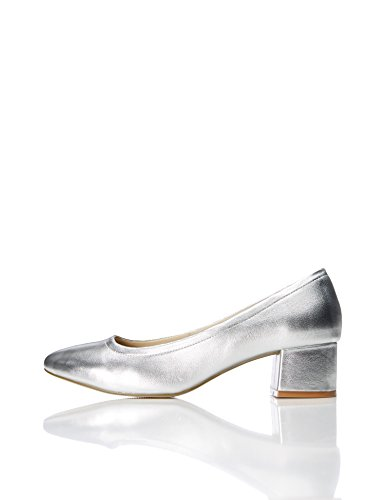 Tacco Find Argento silver Ballerine Con Donna Quadrato ZZqpWUHwP