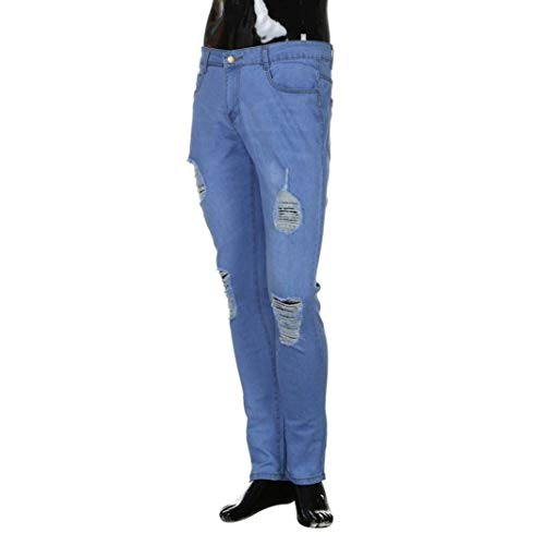 Denim Hip Slim Stile Hop Tapered Skinny Fit Pantaloni Pants Elasticità Dunn Uomo Nn Jeans Stretchy Hellblau Cyclist Da Ripped Semplice Rt ZrFAZwBq