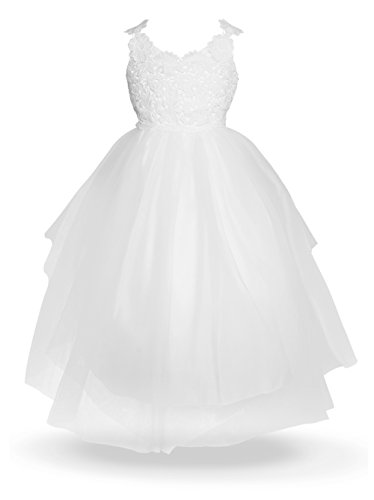 Alicorn Girl's Princess Dress for Party Wedding Pageant Big Kid M(10-11)