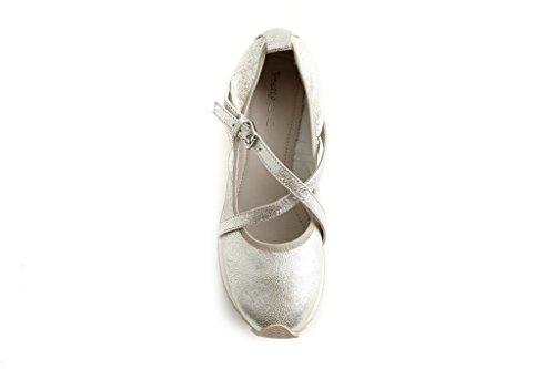 Pretty Nana , Damen Ballerinas Platino