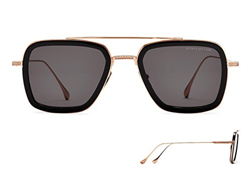 Sunglasses Dita FLIGHT. 006 7806 E-BLK-RGD BlackRose Gold w/ Dark - For Dita Sunglasses Men