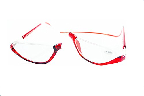 Click Magnetic Half Frame Reading Glasses Small Size Red - Glasses Reading Size Half