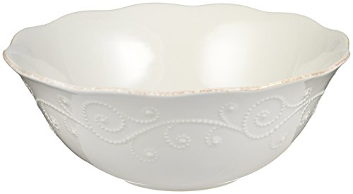 Lenox French Perle Serving Bowl, White - 822963 (Flatware Perle French Lenox)