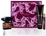 Versace Crystal Noir Edt 3 oz/ 90 ml + SG 5 oz / 150 ml + roller ball Mini WOMEN