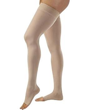 3e43ed1a9e578 JOBST Relief 20-30 mmHg Compression Socks, Thigh High with Silicone Band,  Open Toe, Beige, Medium: Amazon.ca: Health & Personal Care