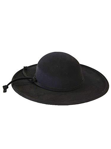 eaed836924767 DISBACANAL Sombrero de Cura con cordón - Negro  Amazon.es  Juguetes y juegos