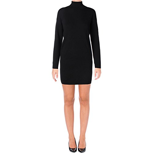Polo Ralph Lauren Womens Merino Wool Side Zip Sweaterdress Black M -