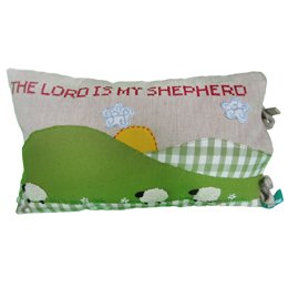 Fair Trade Pillow Cover Lord Is My Shepherd by Global Handmade Hope