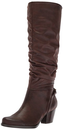 Women's Dark Bt Brown Baretraps Respect Boot Riding gBBdqS