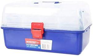 CHUNSHENN ツールボックス 工具箱 以下のために適した家庭用屋外修復ツールストレージボックス、4層のプラスチック製多機能サイズ36 * 20 * 20.5センチ(色:ブルー、サイズ:36 * 20 * 20.5センチ)