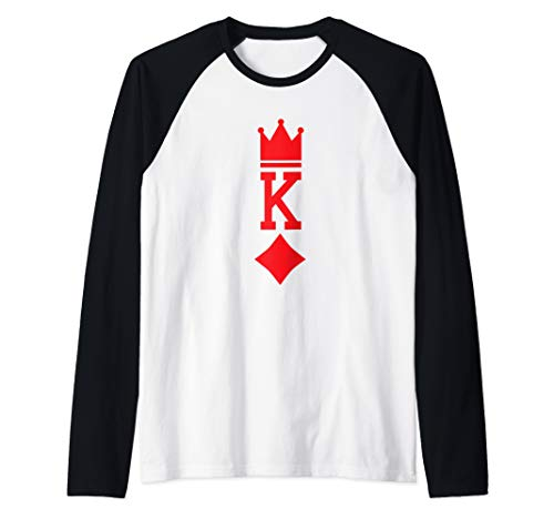King of Diamonds Playing Card Halloween Costume Raglan Baseball Tee