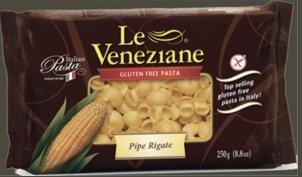 - Le Veneziane - Italian Pipe Rigate Pasta [Gluten-Free], (4)- 8.8 oz. Pkgs