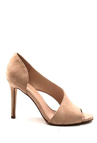extérieur ouvert Escarpins côté NANA pieds CHIC sur du effet Chaussure Femme Beige le en daim Mode x7Iw81nP
