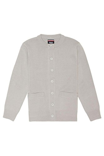 Girls Grey School Cardigan - 4