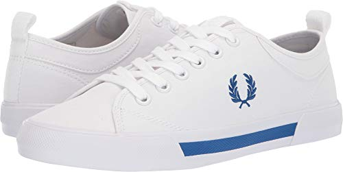 Fred Perry Men's Horton Canvas White/Mid Blue 9.5 D UK ()