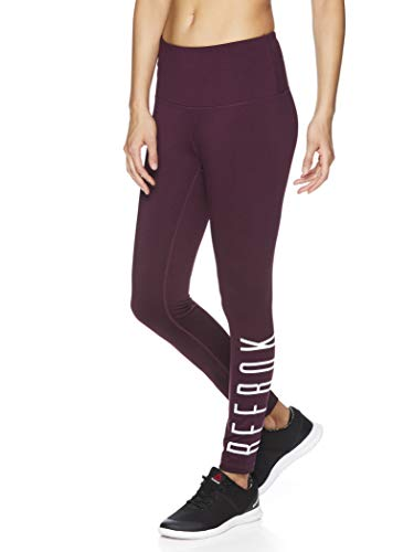 Reebok Women's 7/8 Workout Leggings w/High-Rise Waist - Performance Compression Athletic Tights - Potent Purple Heather Ulitmate, ()