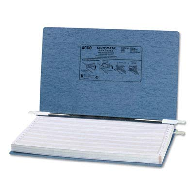 ACCO - Pressboard Hanging Data Binder, 14-7/8 x 8-1/2, Light Blue - Sold As 1 Each - Top and Bottom Loading Binder Expandable for Various Sized Projects.