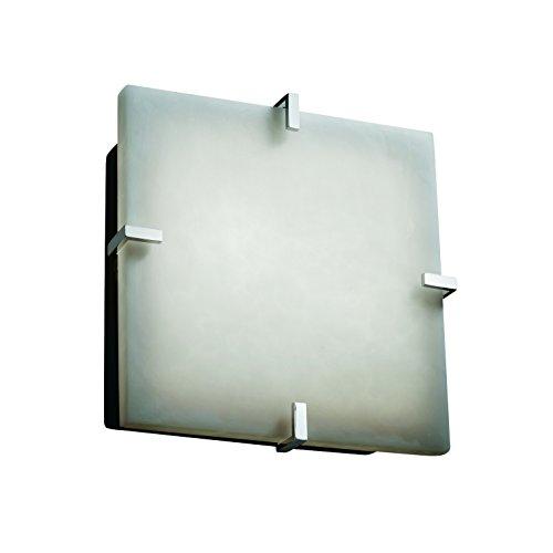 Design Group Justice Clips (Justice Design Group Lighting CLD-5555-MBLK Clips 12-Inch Square Flush-Mount)