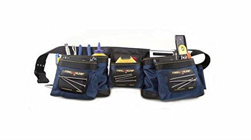 MagnoGrip 002-450 12-Pocket Magnetic Tool Belt, Navy Blue - 12 Outside Pockets