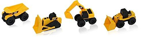 (Caterpillar CAT Construction Toy Truck Play-set. Dump Truck, Bulldozer & More. Dirt Sand Toy. (Play Set of 4))