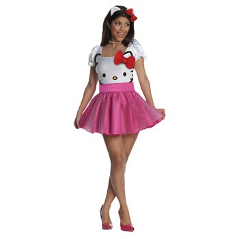 Hello Kitty (Pink) Adult Costume Size X-Small