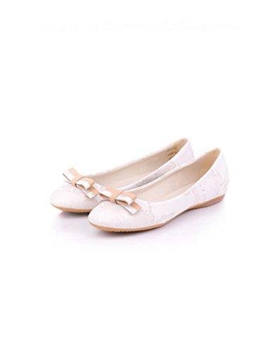 1classe Blanco Mujer de Bailarinas Blanco No para Cuero rxq7rCXwp