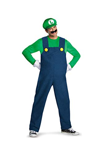 Disguise Costumes Luigi Deluxe Costume, Adult, Medium (38-40 -