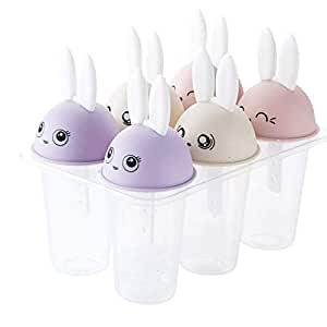 Cartoon homemade ice cream popsicle four group mold six groups of rabbits umbrella ice tray to do your favorite taste