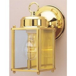 Westinghouse Lighting 66936 One Light Exterior Wall Lantern, Polished Brass (Outdoor Solid Westinghouse Brass Fixtures)