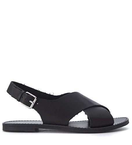 En Smith Peau Banning Sandal Windsor Noire Noir 1fqzSnwy