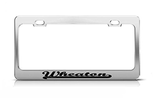 Wheaton Last Name Ancestry Metal Chrome Tag Holder License Plate Cover Frame