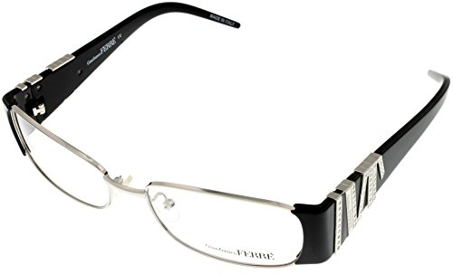 gianfranco-ferre-prescription-eyewear-frame-womens-gf38001-silver-black-swarovski-elements