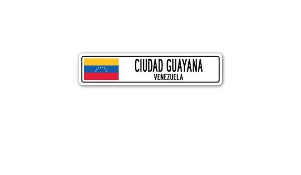 CABIMAS VENEZUELA Street Sign Venezuelan flag city country gift