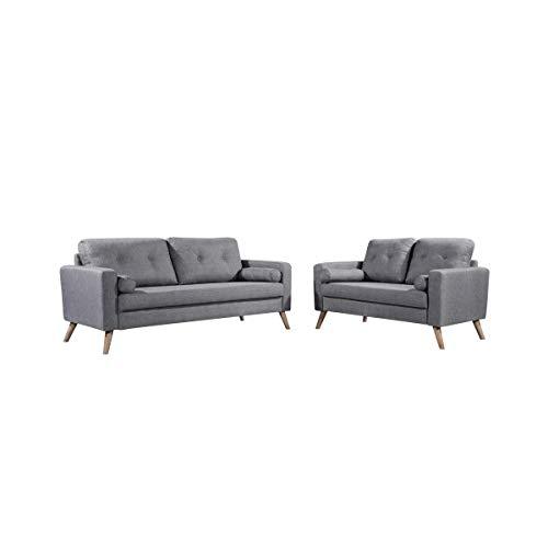 Moloo Design - Conjunto de sofá escandinavo de 3 plazas y 2 ...