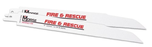 (MK Morse RBFR126214WT03 Fire And Rescue 12-Inch 14 TPI Wavy set Bimetal Reciprocating Blade, 3-Pack)