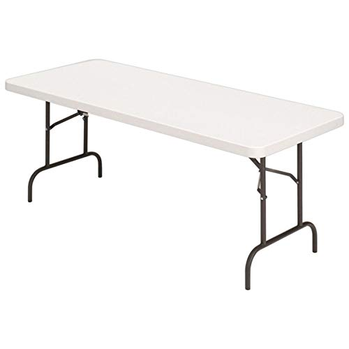 (Realspace Molded Plastic Top Folding Table, 5'W,)